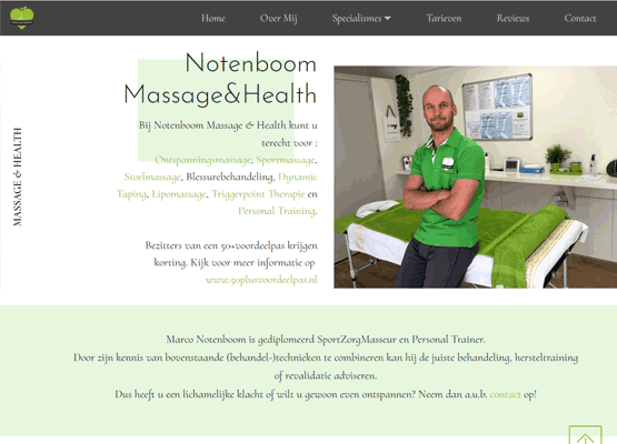 Website Notenboom Massages